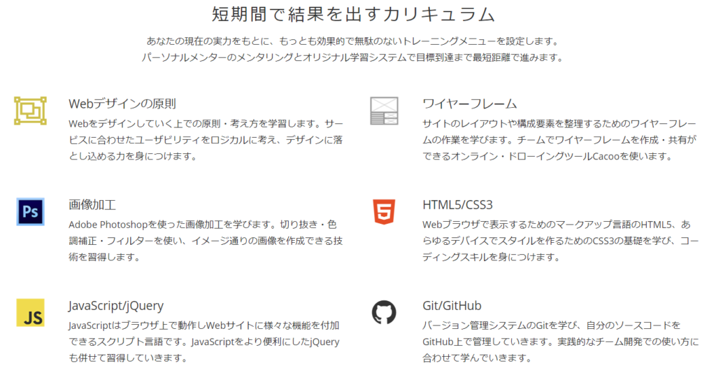TechAcademy・WEBデザインコース
